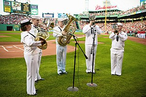 Musicians from the U.S. Navy perform The Star-...