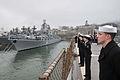 US Navy 100507-N-8721D-071 ailors man the rails as the U.S. 7th Fleet flagship USS Blue Ridge (LCC 19) arrives in Vladivostok.jpg