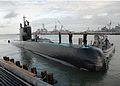 US Navy 100927-N-6011D-032 The Norwegian diesel electric submarine HNOMS UTVAER (S303) arrives at Naval Station Norfolk.jpg