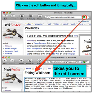 Universal Edit Button - A screenshot from WikiIndex.org showing the Universal Edit Button in action