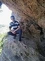Une caverne à la plage de ain taya.jpg