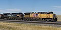 Union Pacific C44ACCTE 5930 and Southern Pacific 6338 in Wyoming 20110823 1.jpg