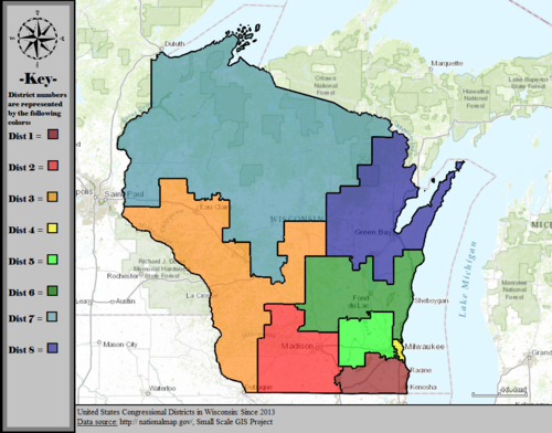 United States Congressional Districts in Wisconsin, since 2013.tif