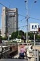 Universitate metro station entrance in Bucharest, Romania (35357646821).jpg