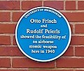 University of Birmingham - Poynting Physics Building - blue plaques group - Frisch Peierls.jpg