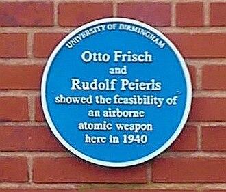 Rudolf Peierls - University of Birmingham – Poynting Physics Building – blue plaque