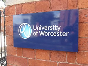 Bliss (typeface) - Bliss on the University of Worcester logo.