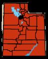 Updated 2009 Swine Flu outbreak in Utah.png