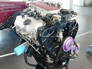 V6 engine - Japan's first mass produced V6 engine, the Nissan VG30E