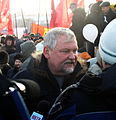Vadim Bulavinov, Member of the State Duma (United Russia Party) visits protestor rally.jpg