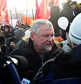 Vadim Bulavinov, Member of the State Duma (United Russia Party) visits protestor rally.jpg