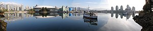 Panorama of False Creek, showing BC Place, Pla...