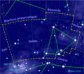 Vela constellation map-fr.png