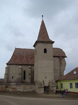 Bazna - The fortified church in Velț