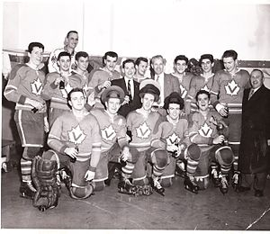 Verdun Maple Leafs (ice hockey) - Image: Verdun Maple Leafs 1957 58