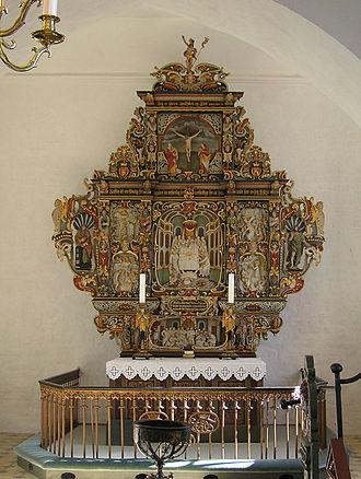 Abel Schrøder - Altarpiece (1655), Vester Egesborg Church, Næstved