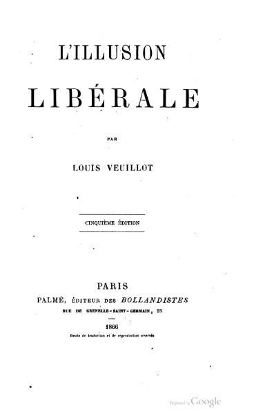 File:Veuillot - L'illusion libérale.djvu