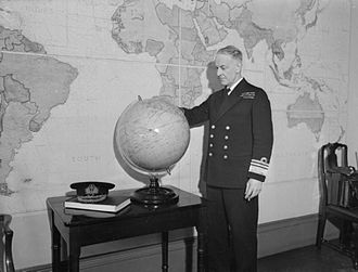 Edward Neville Syfret - Vice Admiral Syfret in his office at the Admiralty, January 1944
