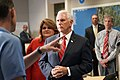 Vice President Mike Pence tours the National Hurricane Center in Miami (48135484472).jpg