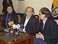 Vicecanciller, Kintto Lucas, recibe en Quito a Premio Nobel de la Paz, Adolfo Pérez Esquivel (5069826558).jpg
