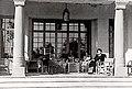 Vidkun Quisling Rolf Joergen Fuglesang Halldis Neegaard Oestbye Maria Quisling Gimle (Villa Grande) Bygdoey Oslo Norway ca 1941–1944 retouched lighter version of På Gimles terrasse. (8615478315).jpg