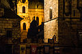 View of the Powder Tower late at night. Prague. Czech Republic, Western Europe. October 24, 2012.jpg