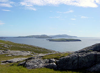 Pabbay, Barra Isles - Pabbay can be made out in the distance