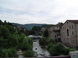 View of Le Vigan and the Arre River
