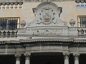 Villa Lauri - Origin of name and construction date are visibe on the façade