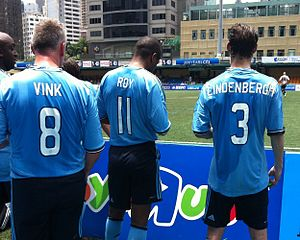"Bryan Roy - Vink, Roy and Lindenbergh for ""Ajax Legend"" in HK7 soccer 2012"
