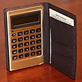 Vintage Texas Instruments Pocket Calculator, Model TI-1750, Eight-Digit LCD Display, Part Of The Texas Instruments Slimline Series, Made in Japan, Circa 1977 (26416899619).jpg