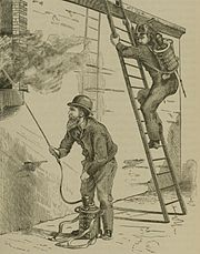 An 1879 illustration of firefighters