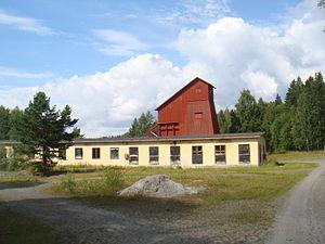 English: The iron ore mine in Vintjärn Svenska...