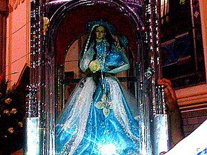 Virgen de El Cisne en Santo Domingo, Ecuador