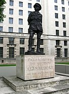 Viscount Alanbrooke statue, Whitehall SW1 - geograph.org.uk - 1318029