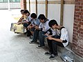 Visitors Watching Smartphones after Event 20140705.jpg