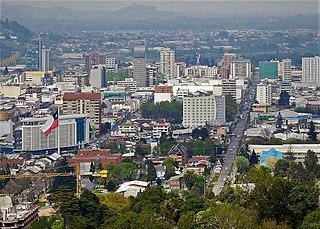 Temuco City and Commune in Araucanía, Chile