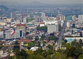 Temuco - View of Temuco from Cerro Ñielol