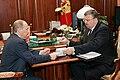 Vladimir Putin and Andrey Belyaninov - 18.03.2008.jpg