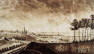Widok ogrodów księcia Kazimierza Poniatowskiego w Warszawie (Na Książęcem II)
