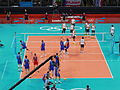 Volleyball at the 2012 Summer Olympics – Men's tournament, BRA vs RUS.JPG