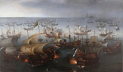 Vroom Hendrick Cornelisz Battle between England and Spain 1601.jpg