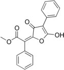 Chemical structure of vulpinic acid