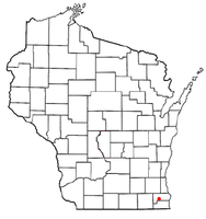 Location of Dover, Racine County, Wisconsin