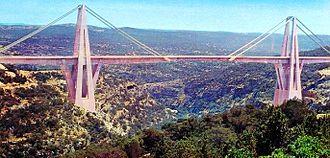 Wadi el Kuf Bridge - Image: Wadi el Kuf Bridge 1970's