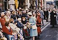 Walkabout by Her Majesty The Queen, Town Hall Square, Grimsby 12th July 1977 (archive ref CCHU-4-1-9-2) (26284940210).jpg