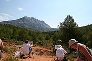 painting Montagne Sainte-Victoire with walkthearts
