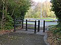Walsall Canal - Wednesbury - gate to Hallens Drive (38513254512).jpg