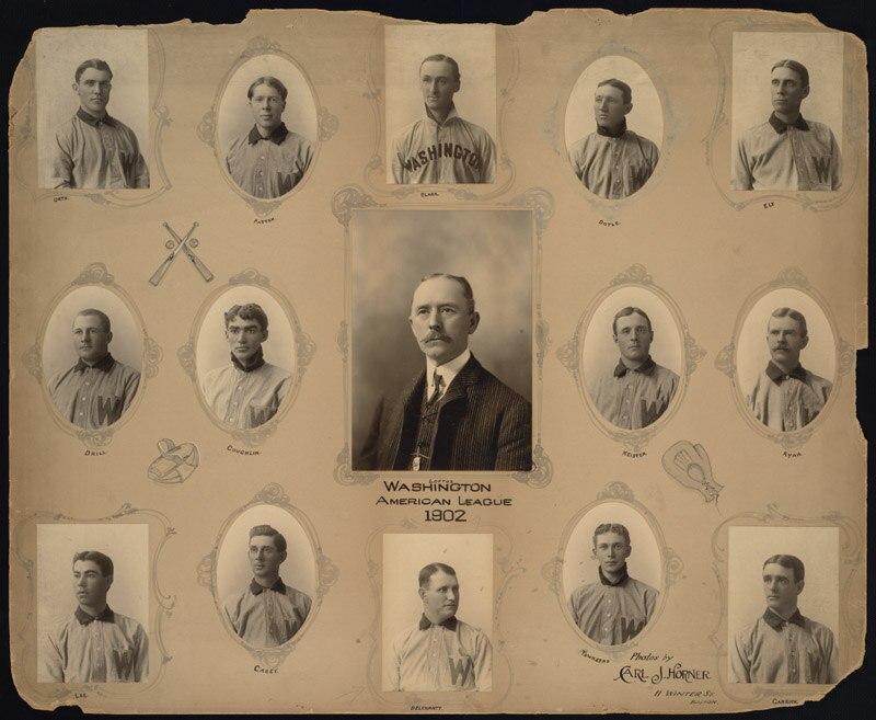 Washington Senators Baseball Team, 1902