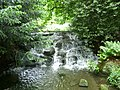 Waterfall on the River Wandle in The Grove, Carshalton (geograph 2994225).jpg